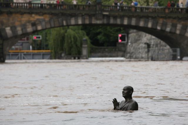 Floods threaten the historical centre of Prague